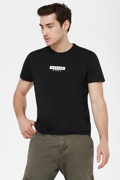 Harlem Soul T-Shirt 'Mel-Bourne' in schwarz: Frontalansicht