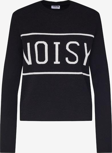 Megztinis 'NOISY' iš Noisy may , spalva - juoda / balta: Vaizdas iš priekio