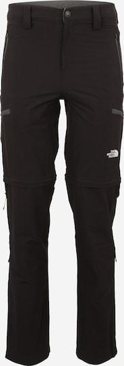 THE NORTH FACE Pantalon outdoor 'Exploration Convertible' en noir / blanc, Vue avec produit