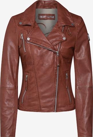 FREAKY NATIONPrijelazna jakna 'Bikerprincess' - smeđa boja
