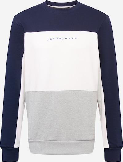 JACK & JONES Majica | modra / temno modra / svetlo siva / off-bela barva, Prikaz izdelka