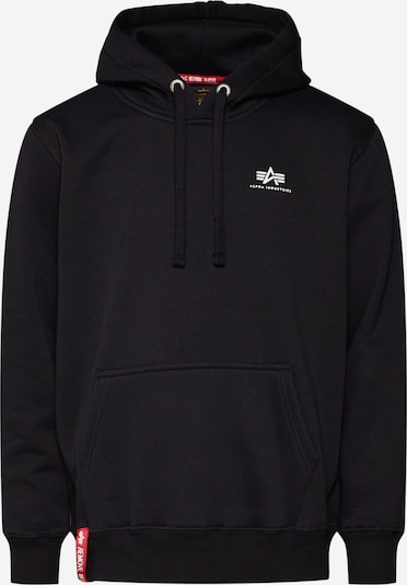 fekete ALPHA INDUSTRIES Tréning póló 'Small Logo', Termék nézet