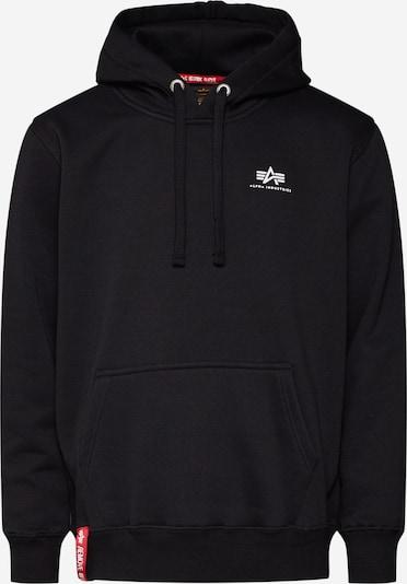 ALPHA INDUSTRIES Hoody 'Small Logo' in schwarz: Frontalansicht