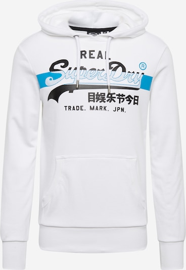 Superdry Sweatshirt in de kleur Blauw / Zwart / Wit, Productweergave