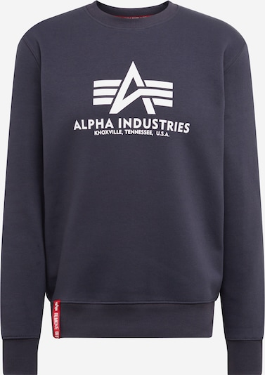 ALPHA INDUSTRIES Sweatshirt in navy, Produktansicht