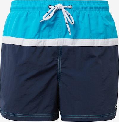 TOM TAILOR Kupaće hlače u tirkiz / crno plava / bijela, Pregled proizvoda