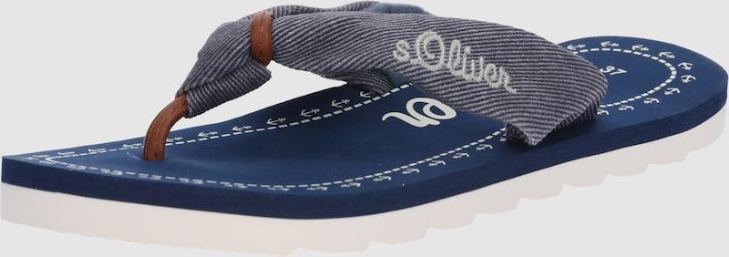 s.Oliver RED LABEL   Zehentrenner 'Comfy' Schuhe Gut getragene Schuhe