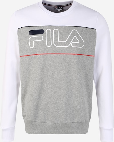 FILA Sportsweatshirt 'Tommy' in de kleur Lichtgrijs / Wit, Productweergave