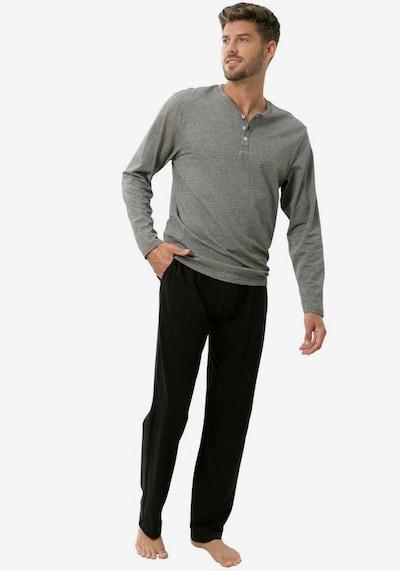 s.Oliver Pajamas long in Grey / Black, View model
