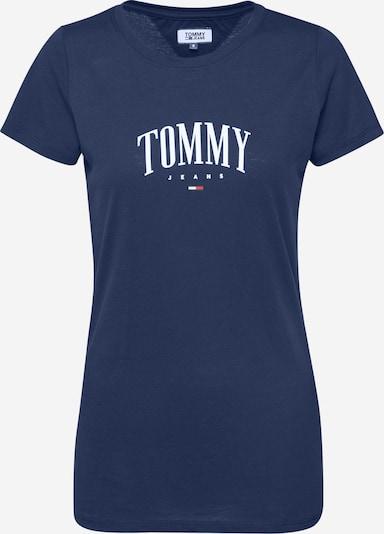 Tommy Jeans T-shirt 'TJW TOMMY SCRIPT TEE' en bleu marine / blanc, Vue avec produit
