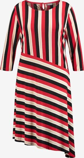 SAMOON Kleid in beige / rot / schwarz, Produktansicht