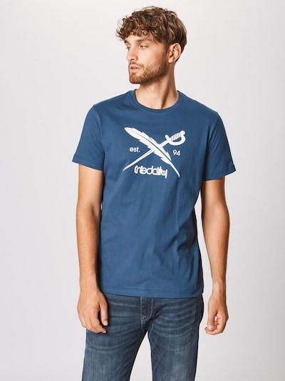 Iriedaily T-Shirt 'Daily Flag' en bleu / blanc: Vue de face