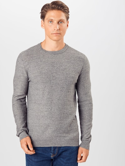 SELECTED HOMME Pullover 'Buddy' in graumeliert: Frontalansicht