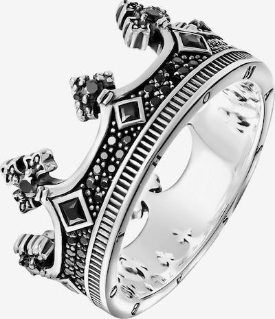 Thomas Sabo Ring in schwarz / silber, Produktansicht