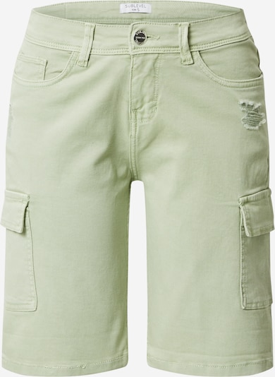 Sublevel Shorts in pastellgrün, Produktansicht
