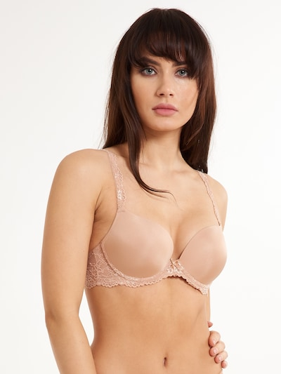 LingaDore Push-Up Gel BH 'DAILY LACE' in nude, Modelansicht