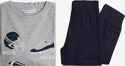 MANGO KIDS Pyjama in dunkelblau / hellgrau / weiß, Produktansicht
