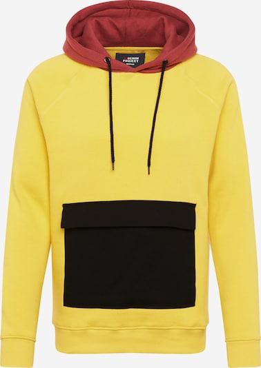Denim Project Sweater majica 'Paplo' u žuta / pastelno crvena / crna, Pregled proizvoda