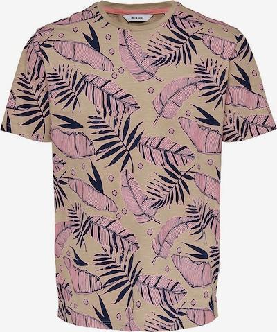Only & Sons T-Shirt in beige / altrosa, Produktansicht