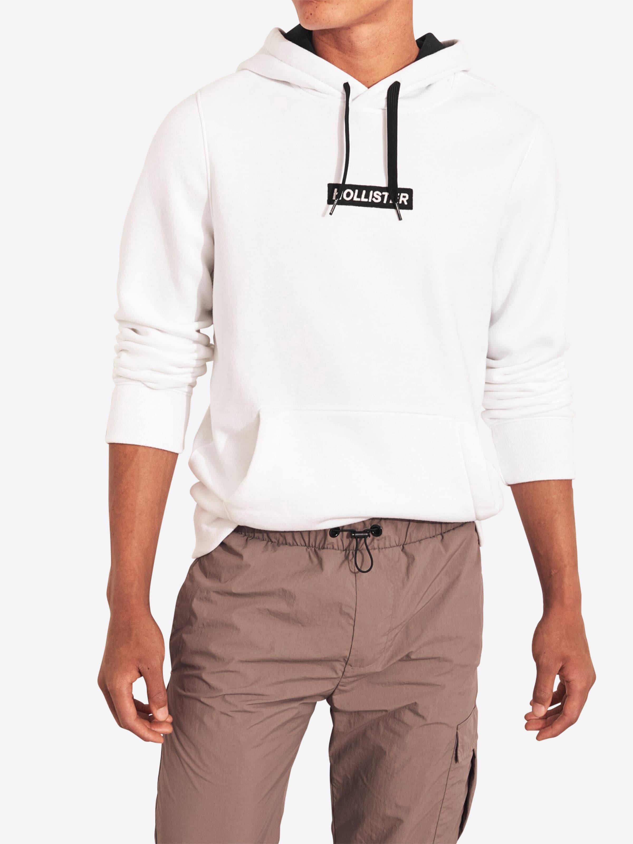 En Blanc shirt Sweat Hollister En Hollister En Sweat Hollister shirt Sweat shirt Blanc 1uKFTlc3J