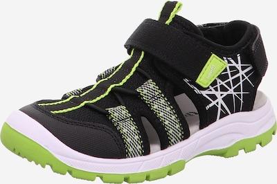 SUPERFIT Chaussures ouvertes 'TORNADO' en pomme / noir, Vue avec produit