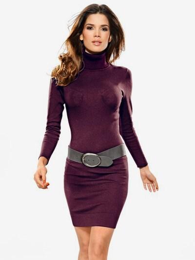 heine Kleid in aubergine, Modelansicht