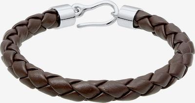 PAULO FANELLO Armband in de kleur Kastanjebruin / Zilver, Productweergave
