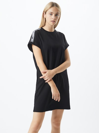 Karl Lagerfeld Kleid in schwarz / weiß, Modelansicht