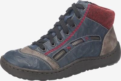 RIEKER Stiefelette in blau / taubenblau / rot, Produktansicht