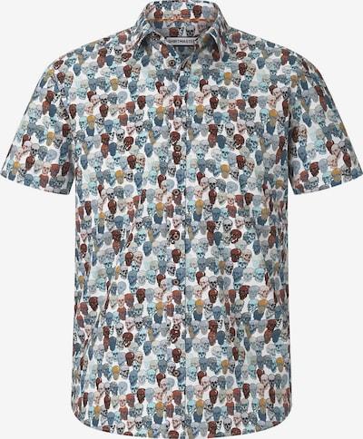 Shirtmaster Kurzarmhemd 'Colourfulskull' in mischfarben / weiß, Produktansicht
