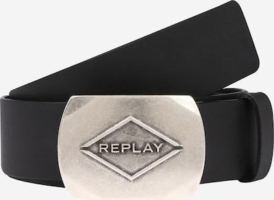 Curea 'Leather Belt' REPLAY pe negru: Privire frontală