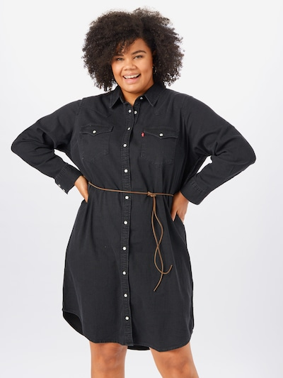 Levi's® Plus Kleid 'Western' in schwarz, Modelansicht