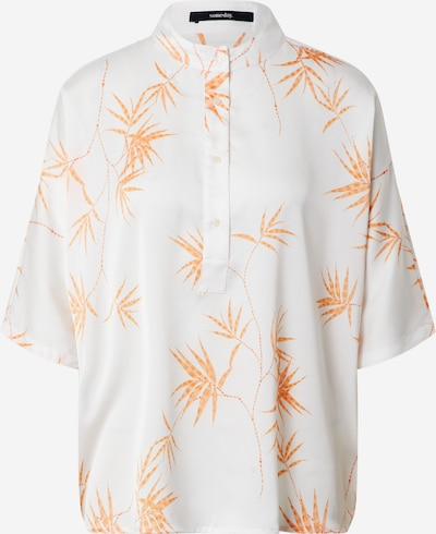 Someday Bluse  'Zenry garden' in orange / weiß, Produktansicht