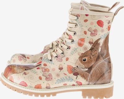 DOGO Schnürstiefel 'Squirrel' in beige / braun / rostrot, Produktansicht
