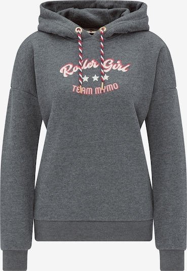 MYMO Sweatshirt in de kleur Donkergrijs / Rood / Wit, Productweergave