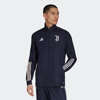 ADIDAS PERFORMANCE Präsentationsjacke 'Juventus Turin' in dunkelblau / weiß: Frontalansicht