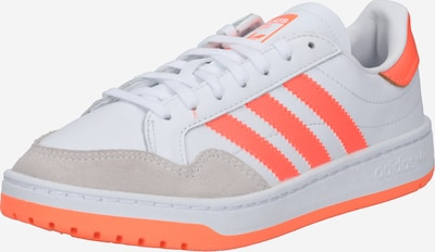 ADIDAS ORIGINALS Baskets basses 'Team Court W' en gris / corail / blanc, Vue avec produit