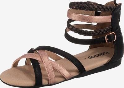 fullstop. Sandalen in schwarz, Produktansicht