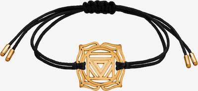 Nenalina Armband 'Chakra' in gold / schwarz, Produktansicht