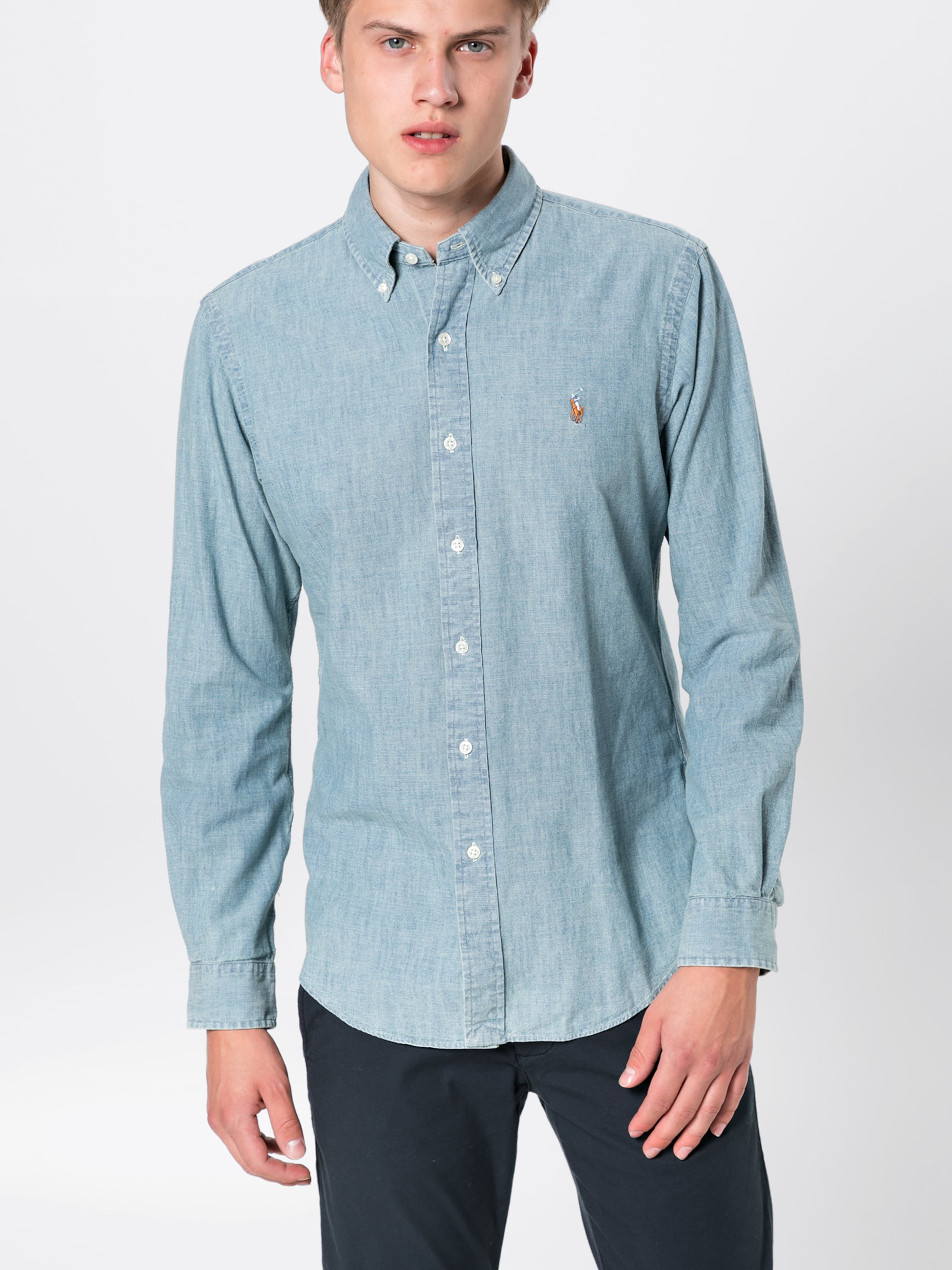 Blue Denim 'sl long Hemd Sp Ppc sport Lauren Shirt' In Sleeve Ralph Polo Bd CoeWBdrx