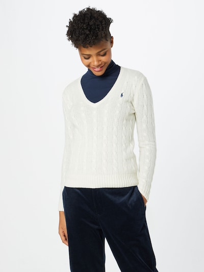 POLO RALPH LAUREN Pullover in creme: Frontalansicht