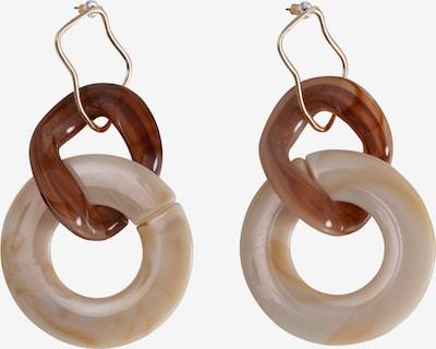 EDITED Ohrringe 'Efrem' in nude / braun, Produktansicht