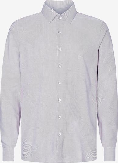 Calvin Klein Slim Textured Cotton Shirt in grau, Produktansicht