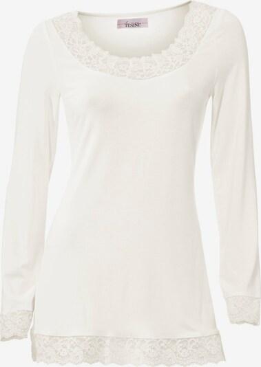 heine T-shirt en blanc, Vue avec produit