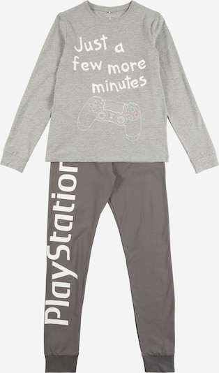 NAME IT Pyjama 'NKMPLAYSTATION' en gris chiné: Vue de face