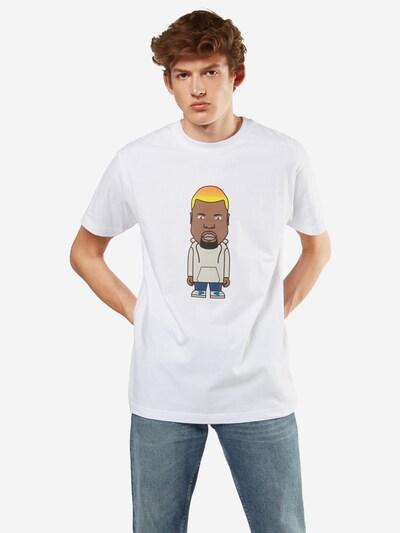 Mister Tee T-Shirt 'Name One' in mischfarben / weiß: Frontalansicht