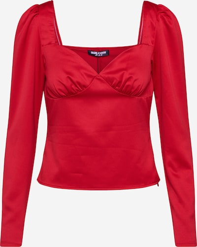 Fashion Union Bluse  'GIVA' in rot, Produktansicht