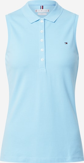 TOMMY HILFIGER Top 'NO SLEEVE SLIM POLO' in de kleur Lichtblauw, Productweergave