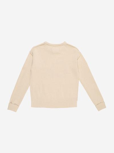 Calvin Klein Jeans Pullover 'CK LOGO INTARSIA SWE' in creme: Rückansicht