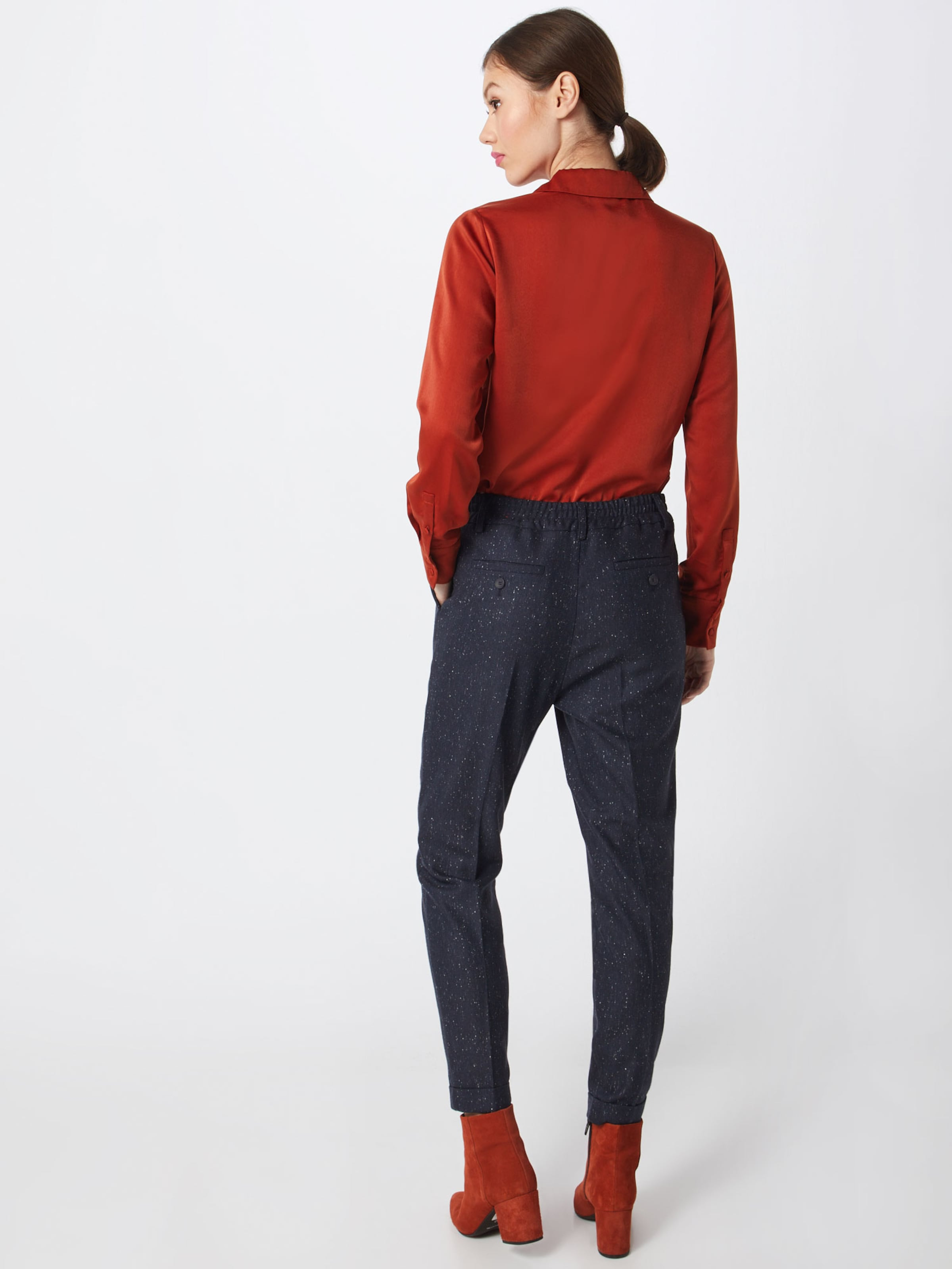 Pantalon En 'tweed chino' S Bleu Red Label oliver Plis Marine À dxoCreB
